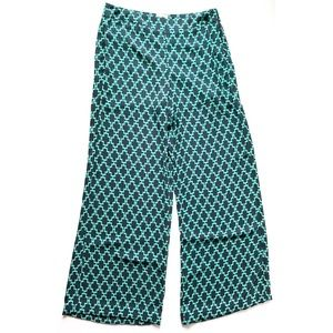 Navy Blue Teal Gianni Bini Wide Leg Palazzo Pants